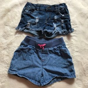 Gently used bundle for 2 shorts for girls